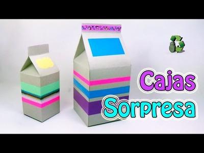 198. Manualidades: Como hacer cajas sorpresa de cumpleaños (Reciclaje) Ecobrisa