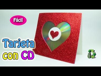 200. Manualidades día de la Madre: Como hacer Tarjeta con CD [Fácil] (Reciclaje) Ecobrisa