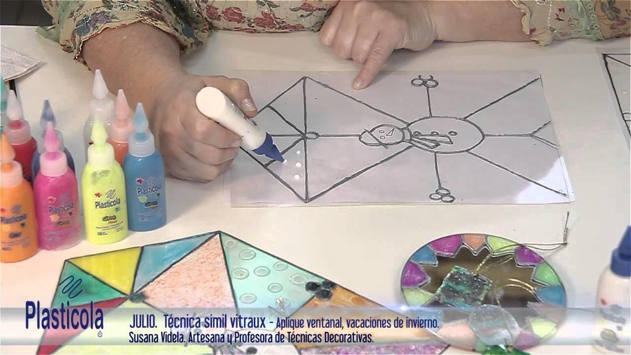 Artesanías - Simil Vitraux o falso vitraux, aprende a hacerlo empleando variedad de Plasticola