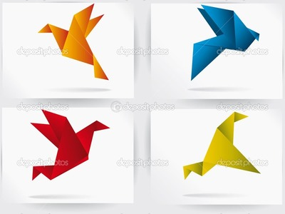 Ave que vuela de papel origami muy facil de hacer