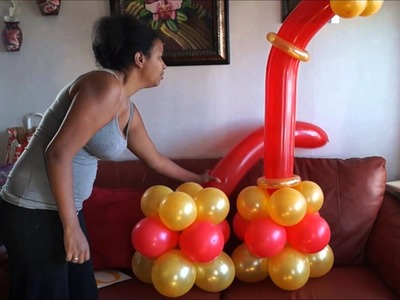 Columna en globo para fiesta de adulto