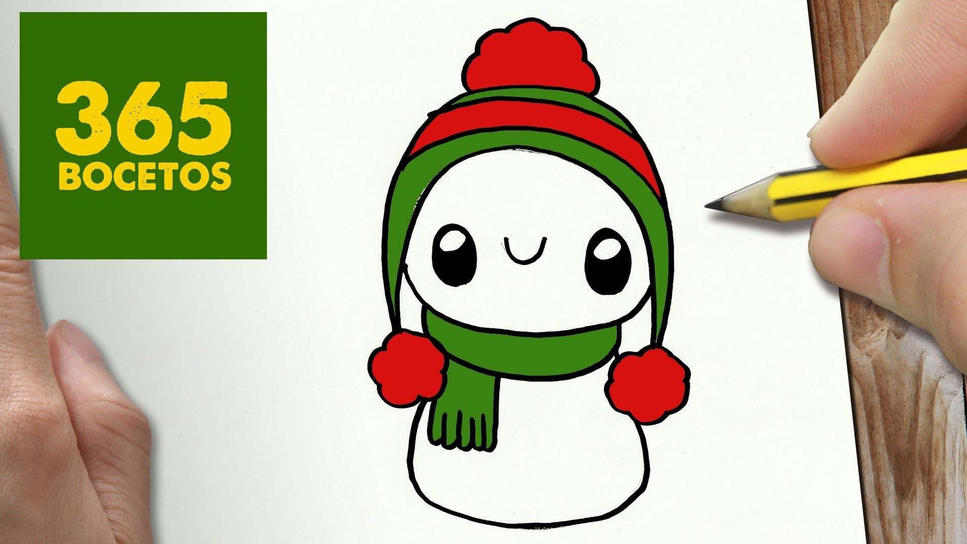 Como Dibujar Un Muñeco De Nieve Para Navidad Paso A Paso Dibujos