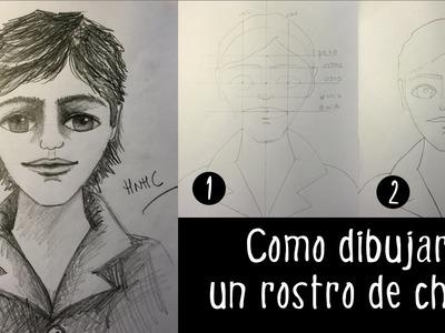 Como dibujar un rostro de hombre