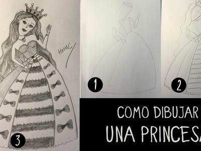 Como dibujar una princesa paso a paso
