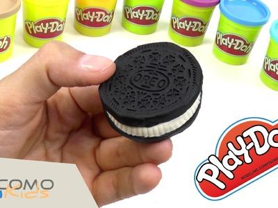 Cómo hacer galletas oreo con Plastilina Play Doh