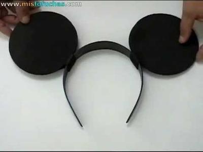 Cómo hacer orejas de Mickey Mouse y Minnie Mouse para disfraz de halloween Parte 1