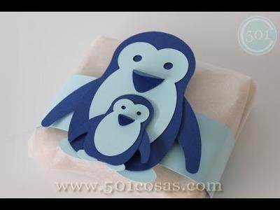 Como hacer pingüinos de cartulina