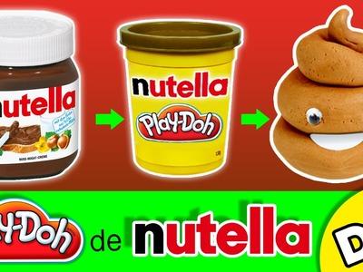 Cómo hacer PLASTILINA CASERA * Play Doh de NUTELLA comestible