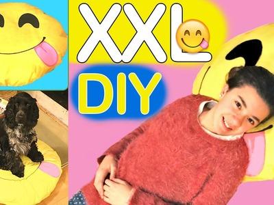 Cómo hacer un cojín gigante de emoji XXL o cuna para mascotas #emojicrafts