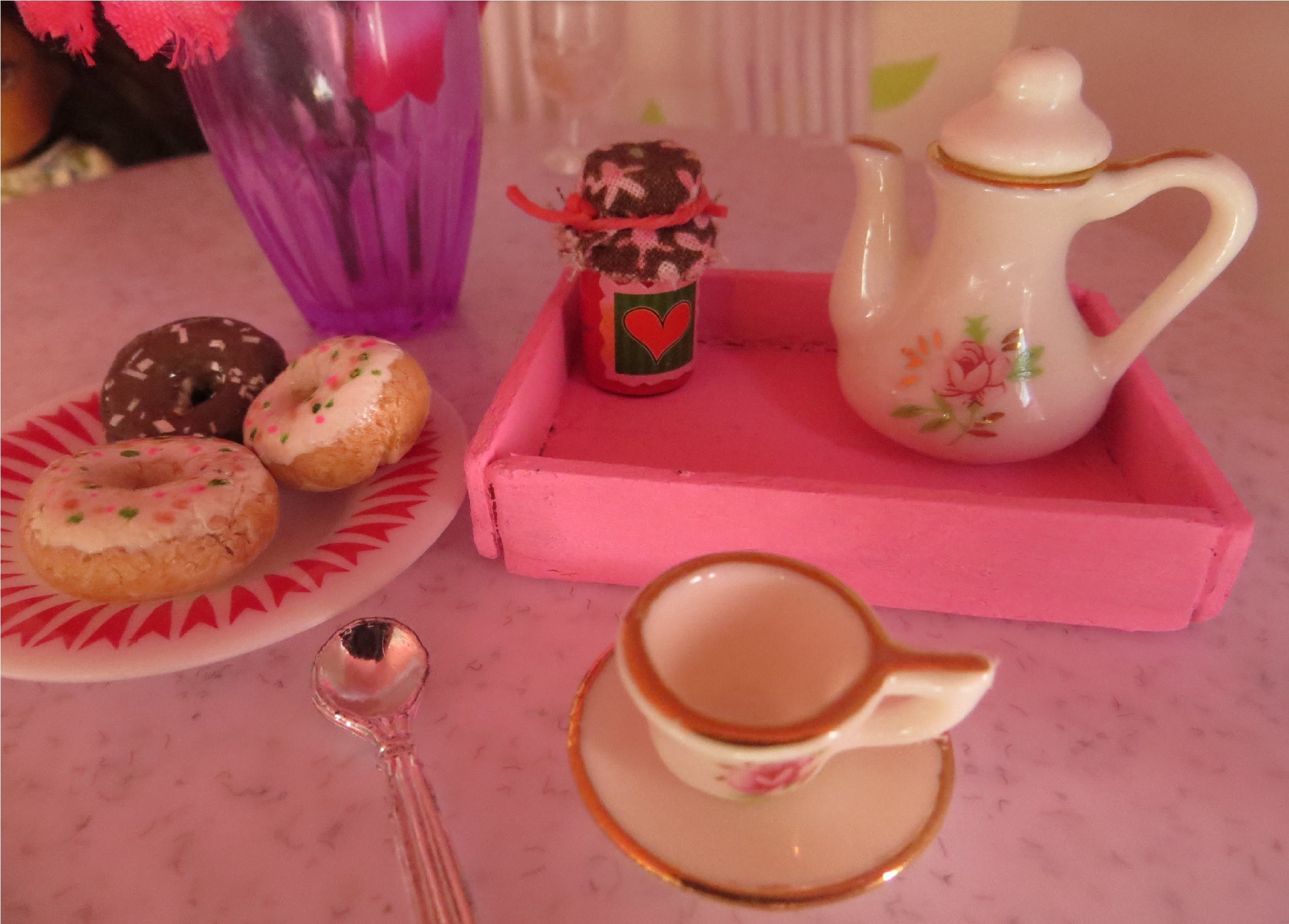 Cómo hacer una bandeja para muñecas   Doll food tray