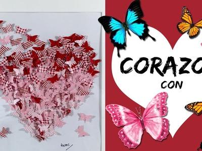 CORAZON con mariposas * CUADRO DECORATIVO San Valentín