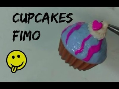 Cupcakes Pink and Blue. Tuto Fimo