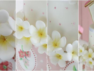 Flores silvestres de Azúcar. 6ª Parte Tarta con Casita.