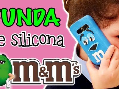 FUNDA de silicona para movil M&M's * FUNDAS CASERAS hechas a mano