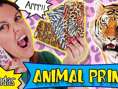 FUNDAS para celulares hechas a mano * ANIMAL PRINT