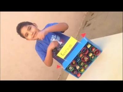 Garage (organizador de carritos) *manualidades para niños*