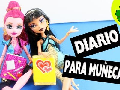 Haz un mini Diario para tu muñeca - super facil