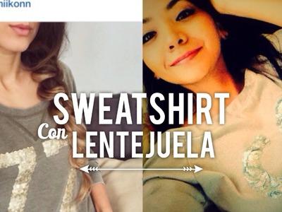 ¡Cómo Estampar tu Sweatshirt con Lentejuelas!