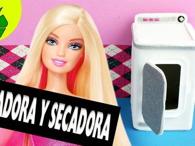 Manualidades para muñecas: Haz una lavadora. secadora para tu muñeca  con  cartón