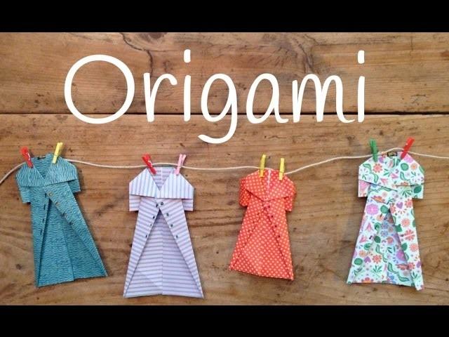 5e26064f4665c Origami fácil para niños  Cómo hacer un abrigo de papel fácil