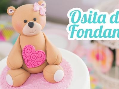 Osita de fondant | #12 Mesa dulce para Baby Shower | Quiero Cupcakes!