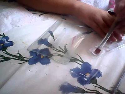 Plato decorado con una servilleta- Parte 1