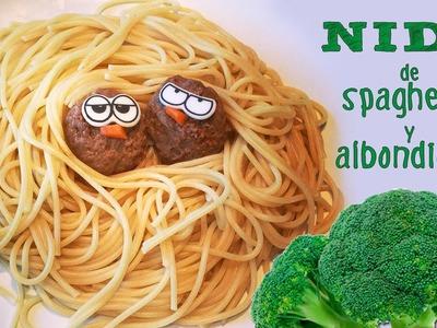 Recetas fáciles para niños: Nido de espaguetis y albóndigas