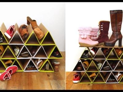Shoe organizer homemade - Organizador de zapatos hecho en casa