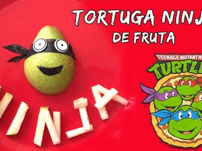 Tortuga NINJA de fruta * Meriendas fáciles para niños