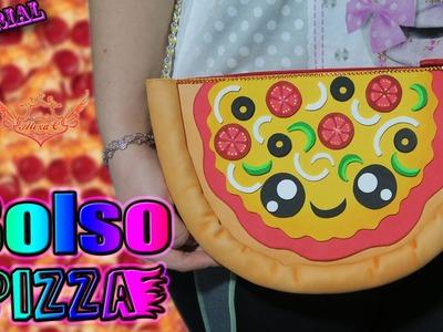 ♥ Tutorial: Bolso Pizza Kawaii de Goma Eva.Foami (FÁCIL Y ORIGINAL) ♥