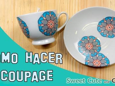 Tutorial Cómo hacer Decoupage sobre cerámica (y cualquier superficie!)