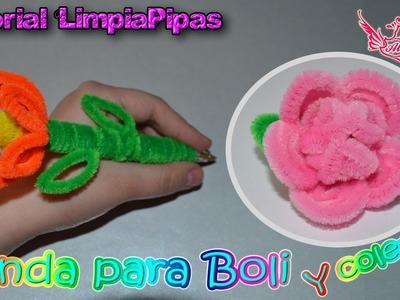 ♥ Tutorial: Funda para Boli y Coletero de Limpiapipas MUY FÁCIL ♥