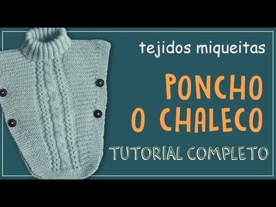 Tutorial para hacer chaleco (o poncho) para niña