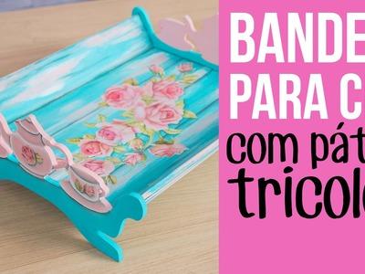 Bandeja com pátina tricolor. Three colored patina on tray {with subtitles.sottotitolo}