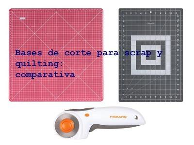 Bases de corte para scrapbooking y quilting, tutorial comparativa