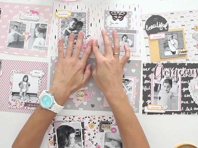 Cómo hacer el mini álbum Diamante - Estructura y decoración - TUTORIAL Scrapbook