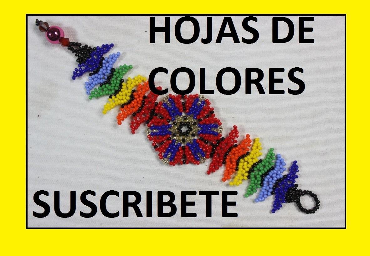 COMO HACER HOJAS DE COLORES EN MOSTACILLA