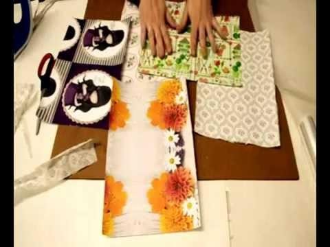 Cómo hacer papel de scrap con servilletas de diseños.