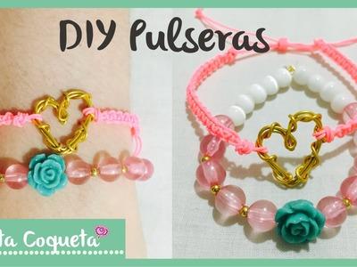 Como hacer pulseras de moda ♡ DIY