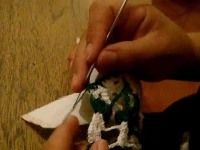 Como hacer puntilla 3, pavo real marimur parte  5