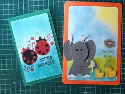 Cómo hacer tarjetas de animales scrapbook. DIY easy animal cards
