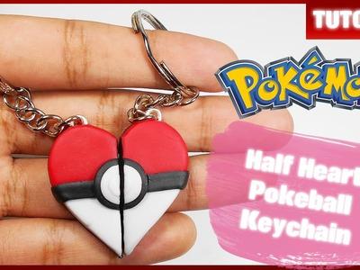 Half Heart Pokeball Keychain ✰ Tutorial ✰ Polymer Clay ✰ Porcelana Fría