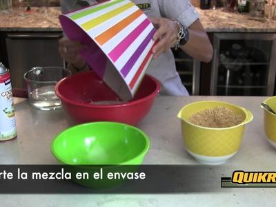IDEAS CONCRETAS: Cómo hacer una vasija de cemento blanco y vidrio