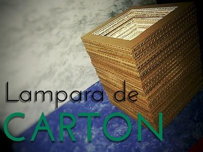 LAMPARA DE CARTON | TUTORIAL | RECICLANDO