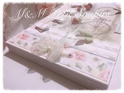 Libro de firmas Boda Encuadernación lazo Scrapbooking