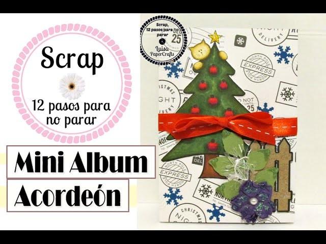 Mini álbum acordeón - Tuto 10 Scrap 12 Pasos Para No Parar