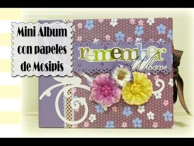 Mini Album con papeles de Mosipis