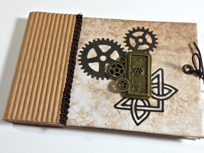 Mini Album Desplegable Steampunk| Scrapbooking | Mundo@Party