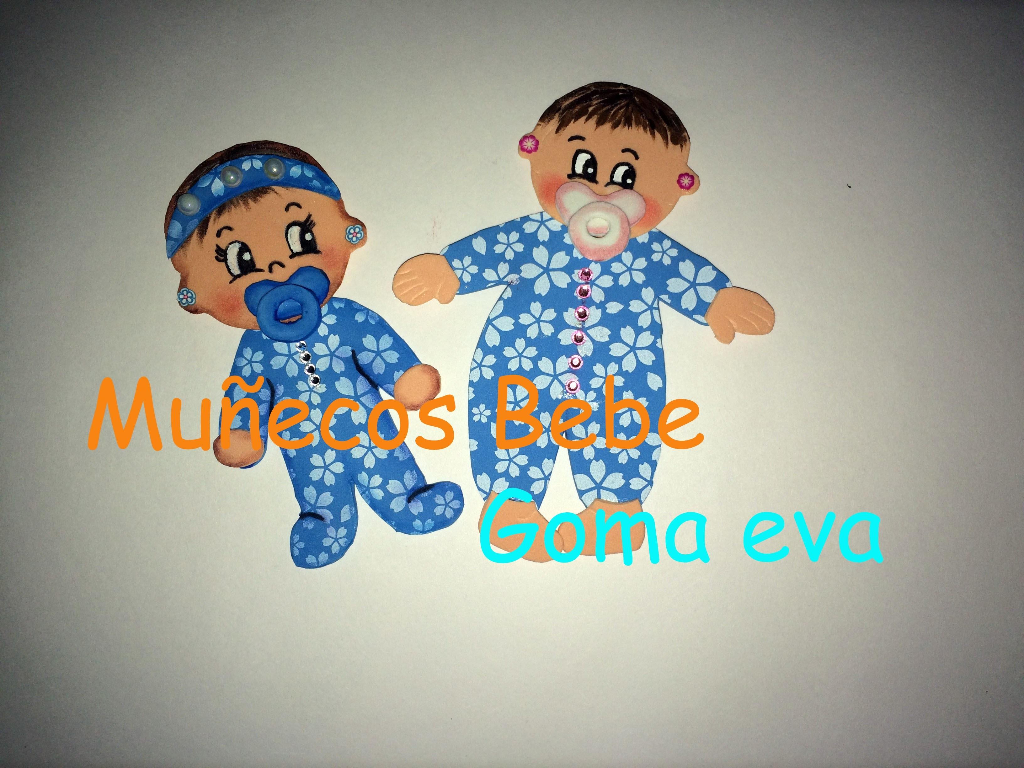 Munecos Bebe Goma Eva - Bebe-de-goma-eva