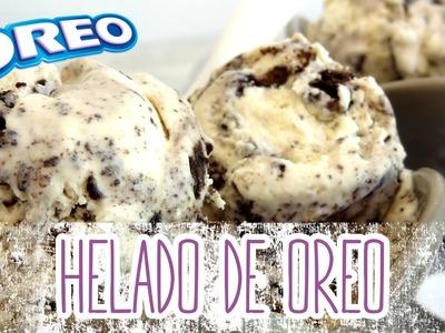 Receta: Helado de galletas Oreo y nata -- Fácil y rápido